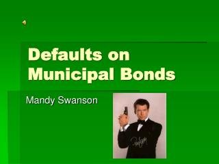 Defaults on Municipal Bonds