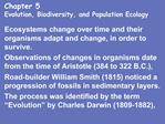Chapter 5 Evolution, Biodiversity, and Population Ecology