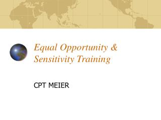 Equal Opportunity  Sensitivity Training