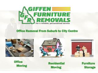 office removal from suburb to city center by giffen furnitur