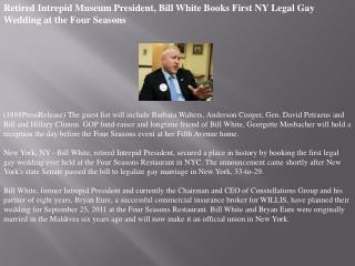 retired intrepid museum president, bill white books first ny