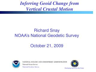Inferring Geoid Change from  Vertical Crustal Motion