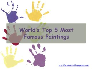 world's top 5 most famous paintings