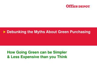 How Going Green can be Simpler   Less Expensive than you Think