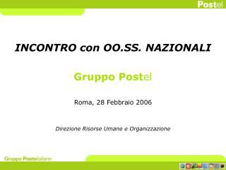 INCONTRO con OO.SS. NAZIONALI  Gruppo Postel  Roma, 28 Febbraio 2006   Direzione Risorse Umane e Organizzazione