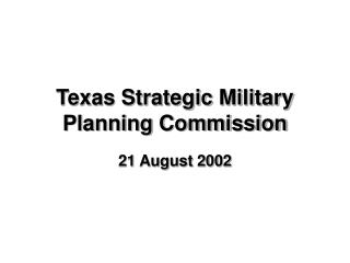 Texas Strategic Military Planning Commission