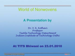 World of Nonwovens