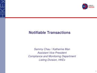 Notifiable Transactions