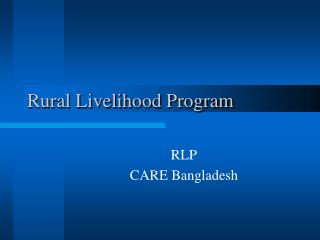 Rural Livelihood Program
