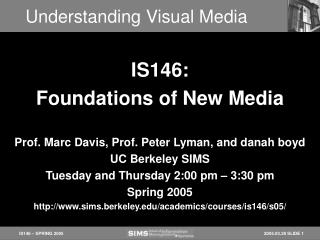 Understanding Visual Media