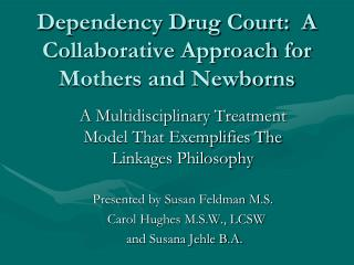 Dependency Drug Court:  A Collaborative Approach for Mothers and Newborns