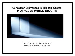 Consumer Grievances in Telecom Sector- INIATIVES BY MOBILE INDUSTRY
