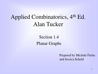 Applied Combinatorics, 4th Ed. Alan Tucker
