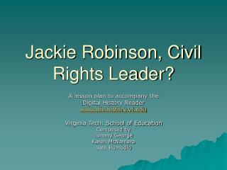 Jackie Robinson, Civil Rights Leader