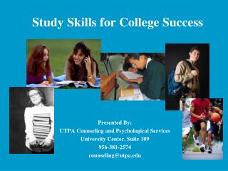 Study Skills for College Success