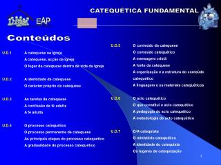 CATEQU TICA FUNDAMENTAL
