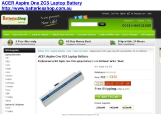 Acer Aspire One ZG5 Battery and Adapter - Efficient Replacem