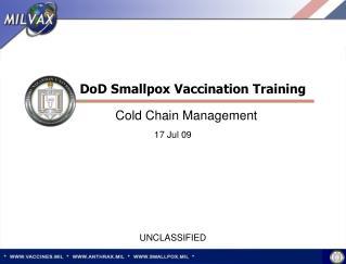 DoD Smallpox Vaccination Training