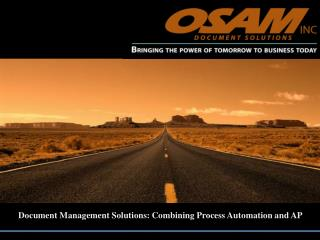 document management solutions: combining process automation