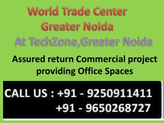 World Trade Center Noida, WTC Noida
