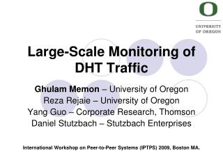 Large-Scale Monitoring of DHT Traffic