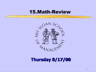 15.Math-Review