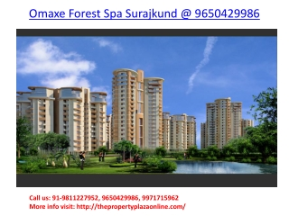 Omaxe Forest Spa Surajkund Faridabad