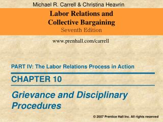 Labor Relations and  Collective Bargaining Seventh Edition