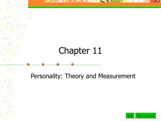 Personality: Theory and Measurement