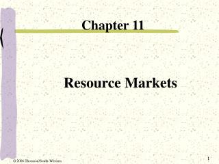 Resource Markets