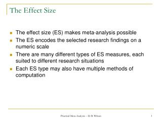 The Effect Size