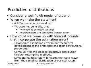 Predictive distributions