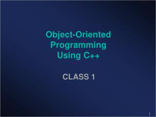 Object-Oriented Programming Using C