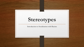 Race, types, and stereotypes