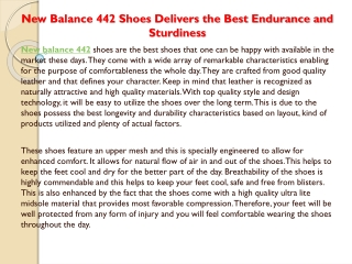 """""""New Balance 442 Shoes Delivers the Best Endurance and Sturd"""