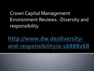 Crown Capital Management Environment Reviews: Diversity