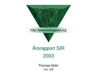 rsrapport SIR 2003