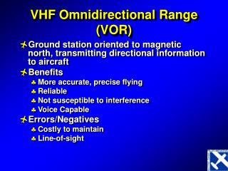 VHF Omnidirectional Range VOR