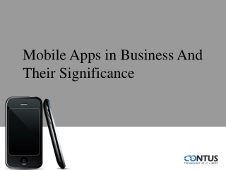 Mobile Application in Business Growth and Their Significance