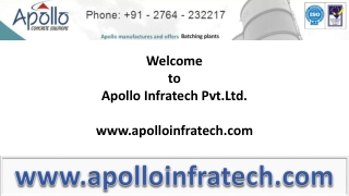 Information on Concrete Batching Plant from Apollo Infratech