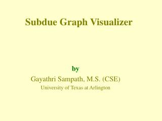 Subdue Graph Visualizer