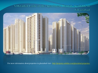 A detailed look at the apartment rentals available in ghazia