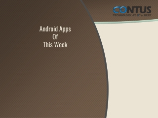 Android Apps Of This Week