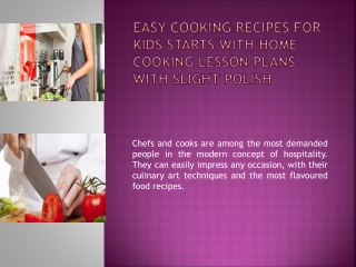 Easy Cooking Recipes For Kids Starts With Home Cooking Lesso