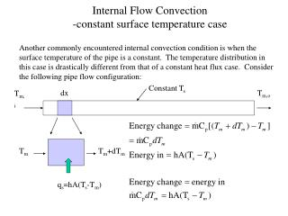 Internal Flow Convection -constant surface temperature case
