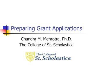 Preparing Grant Applications