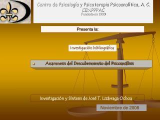 Centro de Psicolog a y Psicoterapia Psicoanal tica, A. C.  CENPPPAC Fundado en 1999
