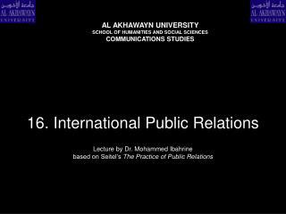 16. International Public Relations
