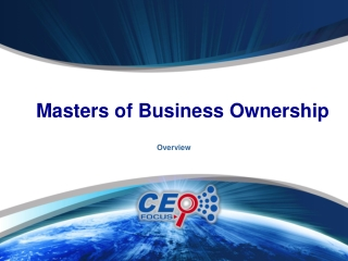 Masters of Business Ownership Program Intro