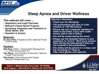 Sleep Apnea and Driver Wellness